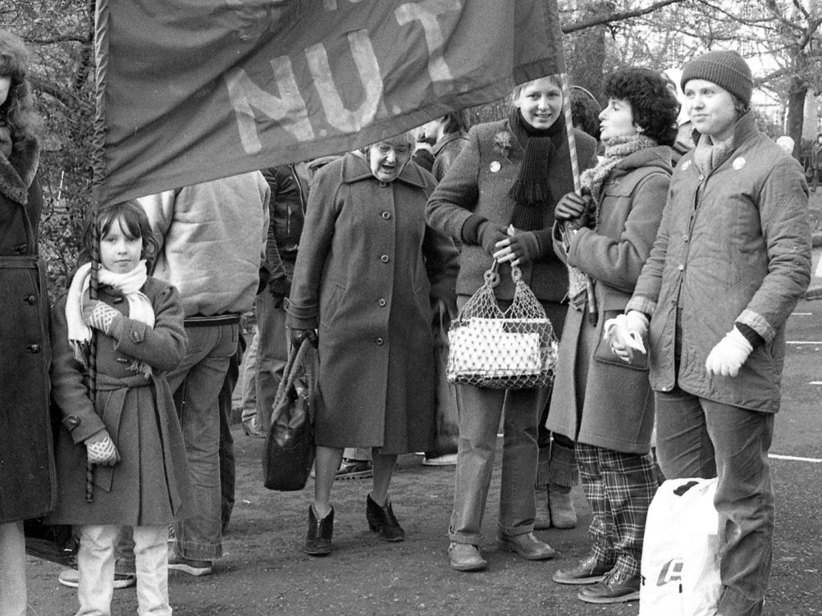 Intergenerational group of women at a protest